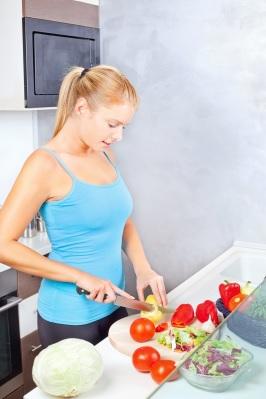 Quartz Worktops are great for cutting veggies